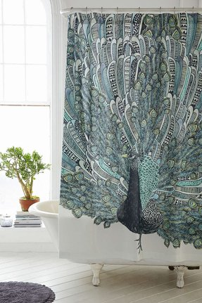 Peacock Shower Curtain 24