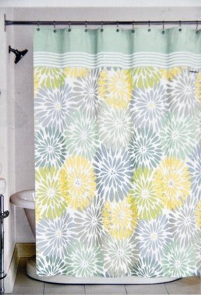 Blue Yellow Shower Curtain Foter