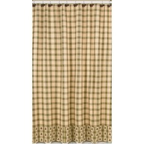 Pinecone lodge shower curtain