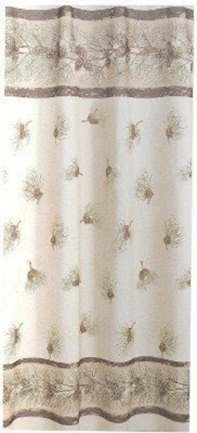 Pinehaven pinecones shower curtain