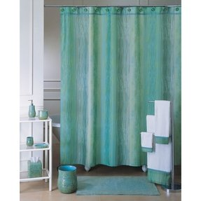 Purple and teal curtains