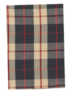 Red Plaid Shower Curtain 1