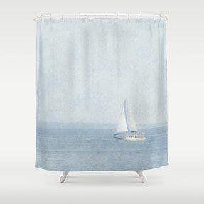 Sailboat Shower Curtain 2
