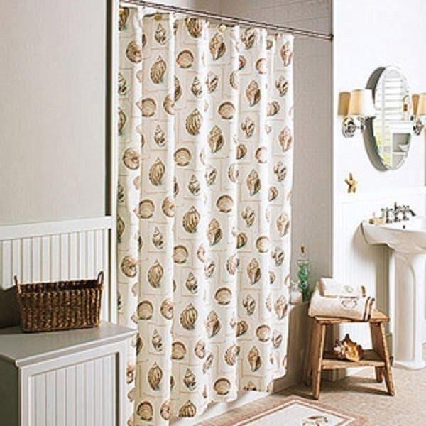 Beau Seashells Shower Curtain 3