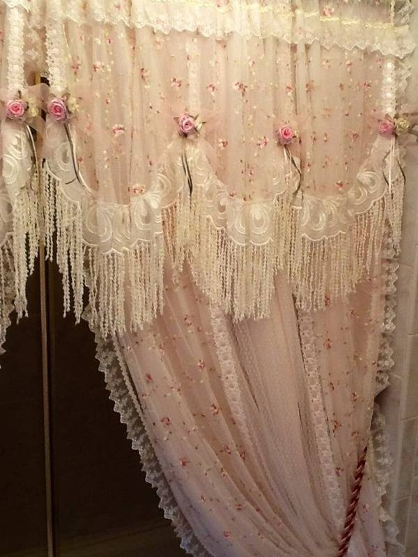 Charmant Shabby Chic Shower Curtains 2