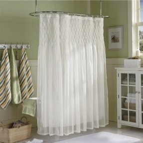 Sheer shower curtain 35