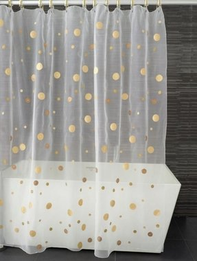 Sheer shower curtain