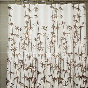 Bamboo Print Shower Curtain Foter