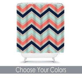 Shower Curtain Custom You Choose Colors