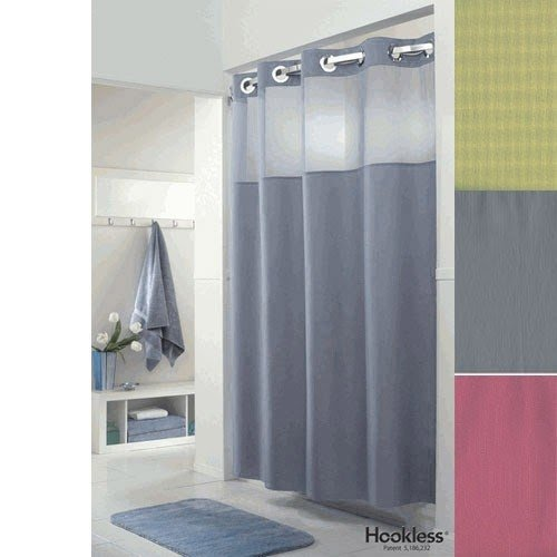 Shower Curtain With Clear Panel