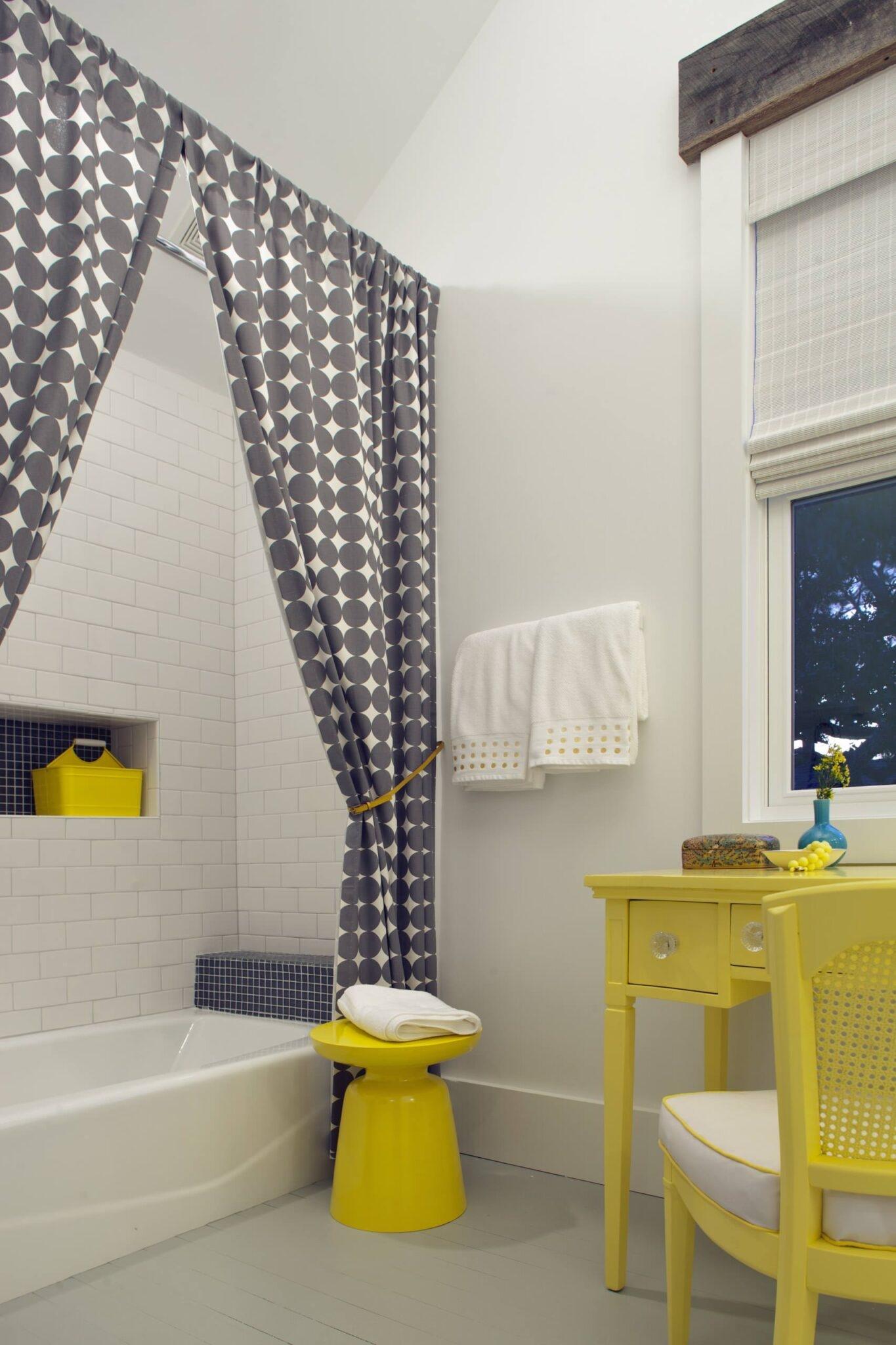 Wonderful Split Shower Curtain With Valance