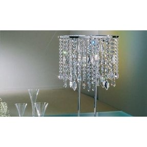 Tall crystal table lamps