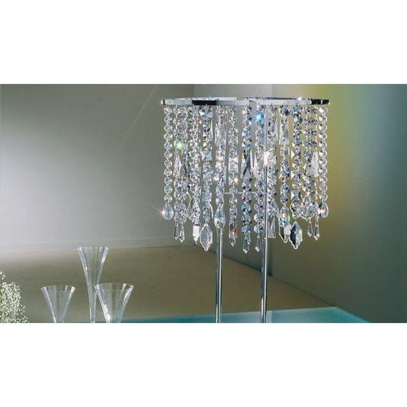Exceptional Tall Crystal Table Lamps