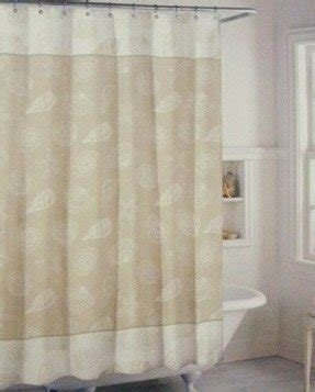 beige and white shower curtain. Tan  Cream And White Beachy Shell Fabric Shower Curtain Seashell Foter