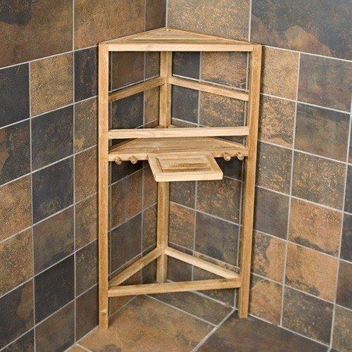 Merveilleux Teak Corner Shower Caddy