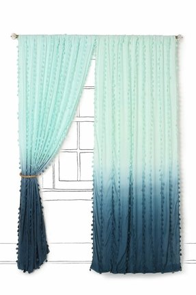 Teal shower curtain 3