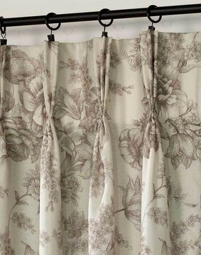 Toile curtains green