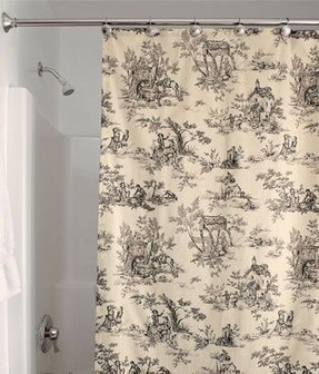 Toile shower curtain 2