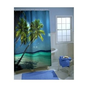 Tropical paradise shower curtain