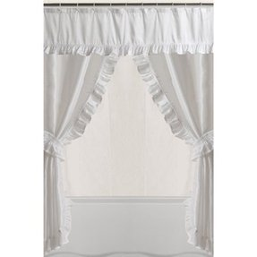 Double Swag Shower Curtain Ideas On Foter