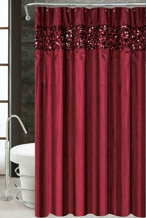Vegas Luxury Fabric Shower Curtain  Bathroom Accessories 70 X 72 Burgundy Foter