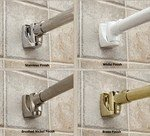 Adding A Contemporary Sign Curved Oval Rod The Rod Itself. Shower Curtain  Rod Support