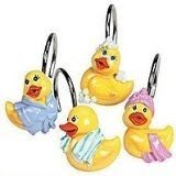 All Different Ducks Shower Curtain Hooks