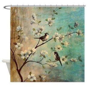 Shower Curtains Birds