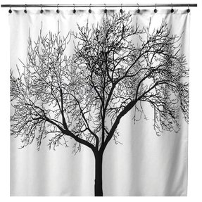 Black and white shower curtain 24