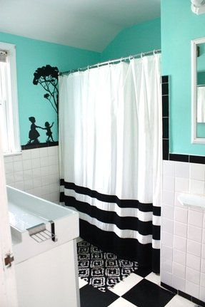 Black Striped Shower Curtain Foter
