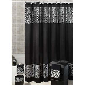 Black shower curtain hooks 36
