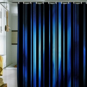 Black Striped Shower Curtain 3