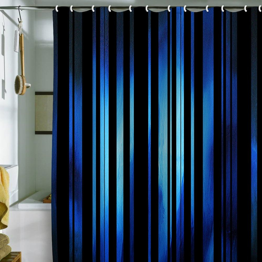 Nice Black Striped Shower Curtain 3