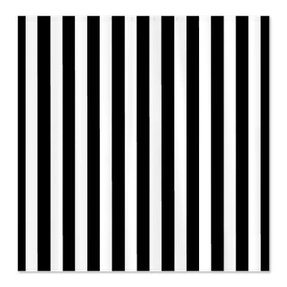 Black striped shower curtain