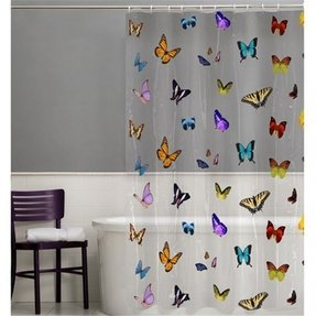 Butterfly shower curtain hooks 10