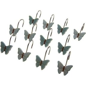 Butterfly shower curtain hooks 4