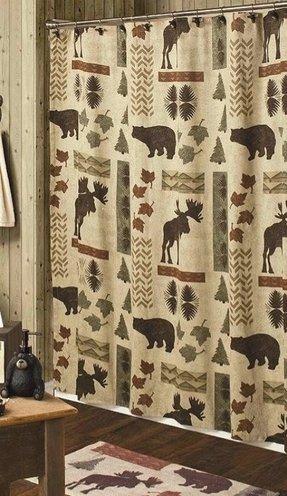 Cabin Moose And Bear 5 Piece Bath Set