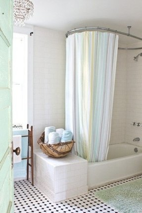 Oval Shower Curtain Rail - Foter