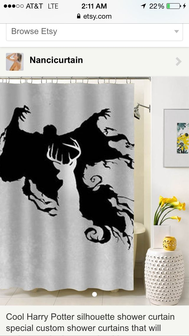 Cool harry potter silhouette shower