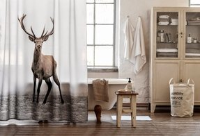 Deer shower curtain 13
