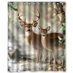 Deer shower curtain 36