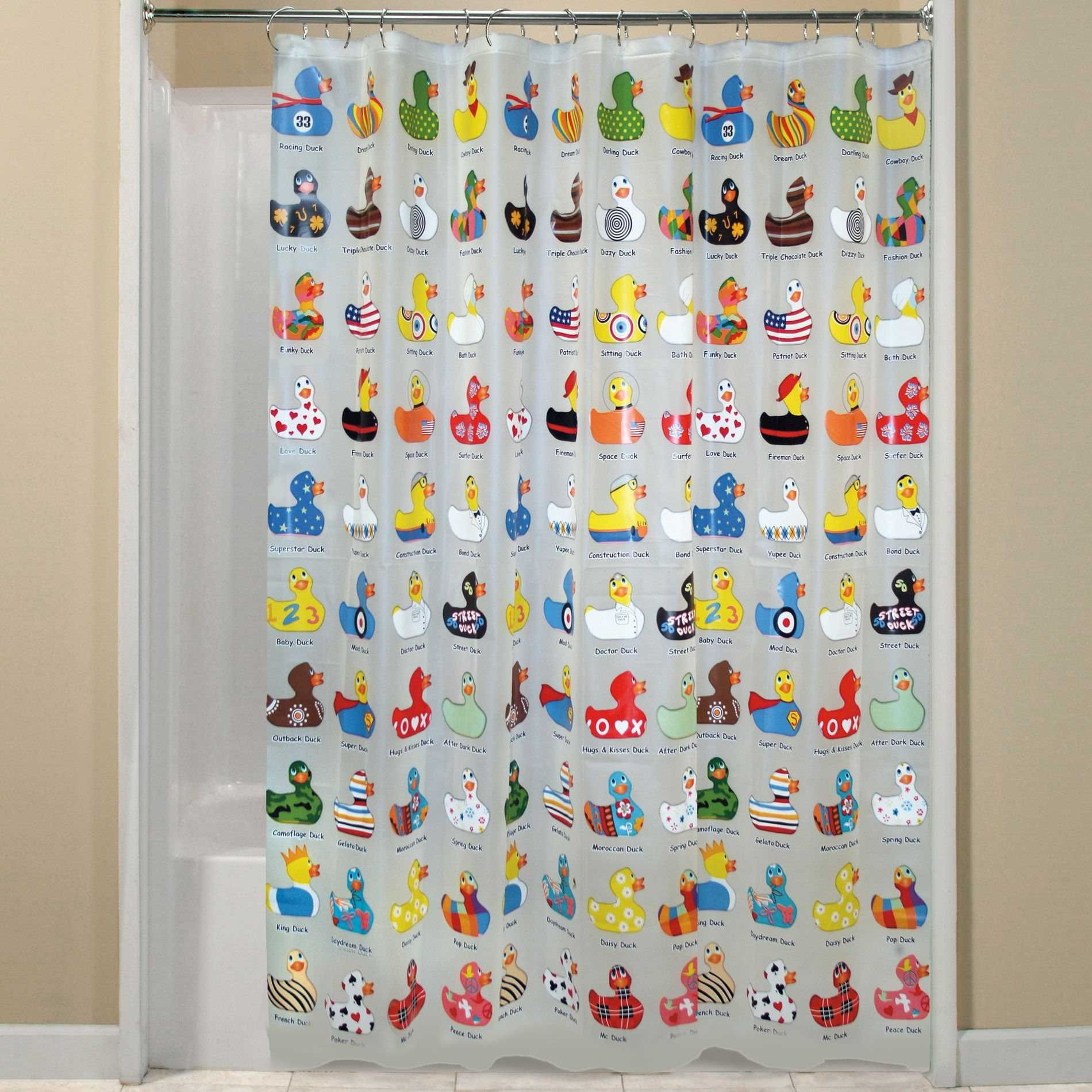 Charmant Duck Shower Curtain 7