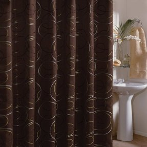 Edmon chocolate 72 inch shower curtain