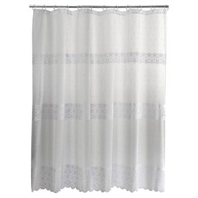 Eyelet Shower Curtains White