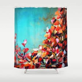 Fall leaves shower curtain 4