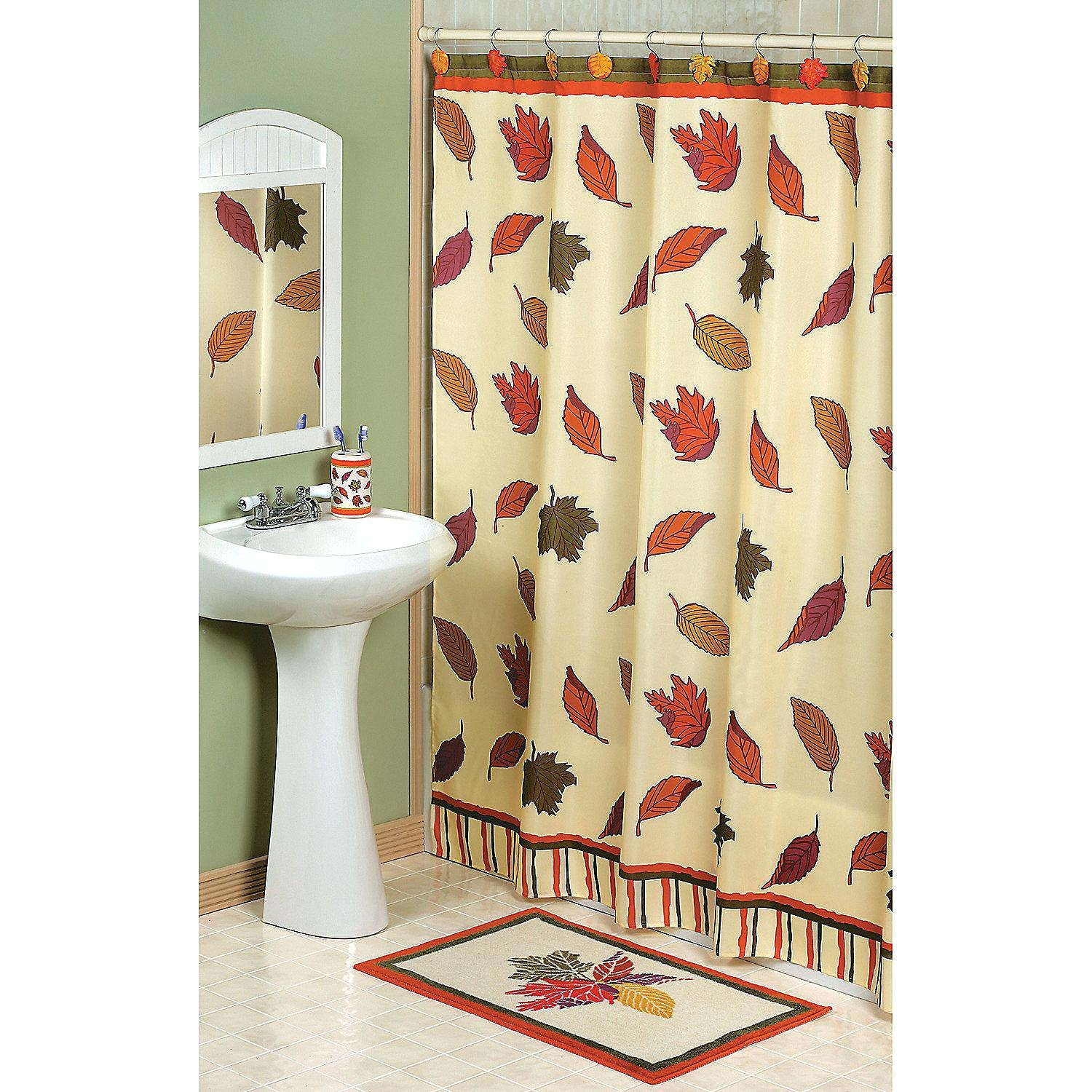 Best Falling Leaves Shower Curtain