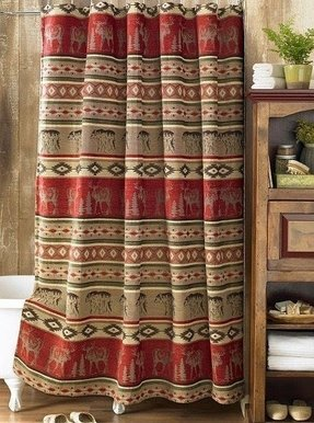 Falling leaves shower curtain 23