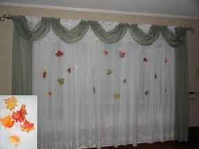 Falling leaves shower curtain 31