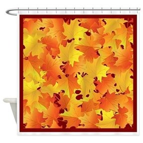 Falling Leaves Shower Curtain 6