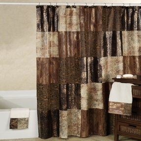 Faux leather shower curtain 2